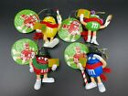 M&M's Resin Christmas Carolers Ornaments with Tags Kurt Adler 2008 - Set of 4
