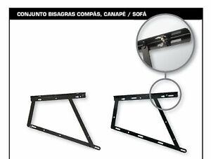 eRocher - 2x Bisagra Compás canapé - Fabricado en España