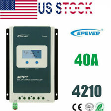 Epever Mppt 40A Solar Charge Controller 12/24V Lithium Battery Common Negative