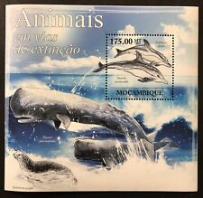 MOZAMBIQUE ENDANGERED ANIMALS SOUVENIR SHEET 2011 MNH MARINE ANIMALS STAMPS SEAL