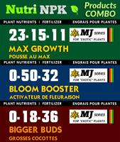 NutriNPK fertilizer   STARTER KIT - for 4 Plants with advanced nutrients formula