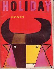 Holiday Magazine April 1965 Spain w/ML Gd 060716DBE2