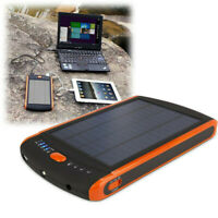 Portable Solar Panel Charger Power Bank 23000mAh LED Light for Laptop Notebook