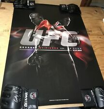 UFC 94 Rare Special Limited Edition LE Poster BJ Penn GSP Georges St Pierre MMA