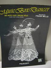 Music Box Dancer Big Note Easy Organ Solo Sheet Music Frank Mills 1974