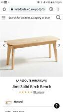 La Redoute Jimi Solid Birch Bench. New