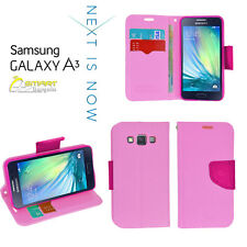 Pink Diary Wallet Flip Case Cover For Samsung Galaxy A3 A330 A330Y+ Screen Guard