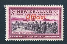 New Zealand 1940. Centennial. Official. 3d stamp. MNH. SG O146.
