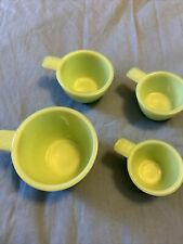 Jadeite Green Glass Measuring Cups Set - 4 Pieces in Excellent Condition