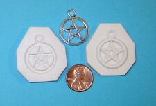 Pentacle Pentagram Star Polymer Clay Push Mold DIY Jewelry Pagan Wicca