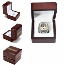 1 Slot Wooden Box Sturdy Square Case Championship Ring Display Sport Cup