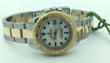 Ladies ROLEX 18K Yellow Gold & Stainless Steel Yachtmaster Watch Box & Papers