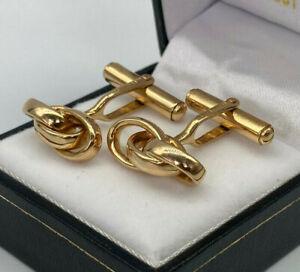 Vintage 18ct Gold Hallmarked GUCCI Cufflinks.  Goldmine Jewellers.