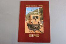 W964 BEMO train depliant Ho 1990 4 pages 29,5 x 21 cm Deutch voiture signaux