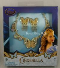 New Disney Store Cinderella Live Deluxe Princess Accessory Set Combs & Necklace