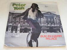"PETER TOSH Bik-In-Hamm Palace Ex+ Rolling Stones 1979 UK P/S 7"""