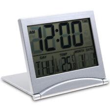 Reloj Despertador Digital Pantalla LCD Termómetro Calendario Fecha Alarma Gris