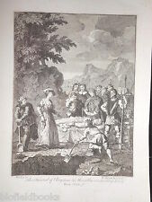 Antiquarian c1830 Engraving of Funeral of Chryslom & Marcella - William Hogarth