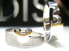 9/ S  AUTH DISNEY PUZZLE MICKEY MOUSE STERLING PLATINUM CLAD RING + GIFT BOX