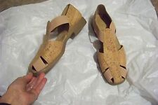 womens aerosoles 4 give cork upper strappy shoes size 12