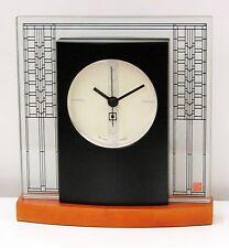 "BULOVA MANTEL TABLE CLOCK -FRANK LLOYD WRIGHT ""GLASNER HOUSE CLOCK"" B7750"