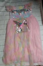 Size 10 Girls Unicorn Tutu Skirt Costume Princess Birthday Outfit Dress Headband