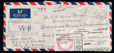 Burma stamps on 1977 RAF Postal Service Air Mail cover from Rangoon to London