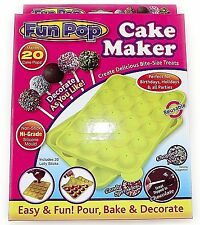 New Fun Silicone Cake Pop Mould Maker Baking Set 20 Lollipop Cooking party sweet