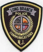 LONG BRANCH NEW JERSEY NJ 9-1-1 Dispatcher COMMUNICATIONS POLICE PATCH