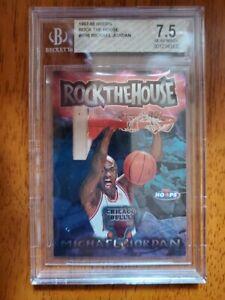 1997-98 Hoops Rock The House Michael Jordan Beckett Graded with Nice Slab