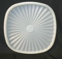 Vintage Tupperware Servalier Square Replacement Lid Seal #837 Sheer White CLEAN!