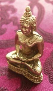 ALTE tibet. Miniatur Buddha-Statue / Amulett in SILBER