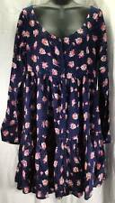 Volcom Dress Womens Size 12 New Blue Orange Pink White Floral 8315