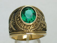 United States Air Force Military December Blue Topaz Stone Men Ring Size 14