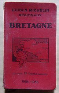 § guide régional MICHELIN Bretagne - 1934-1935