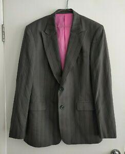 Calibre Grey Mens Suit Jacket - Size 112R - 100% Wool