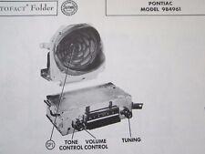 1955 PONTIAC 984961 RADIO PHOTOFACT