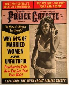The National Police Gazette, November 1968, Vintage Magazine - Jacqueline Bisset