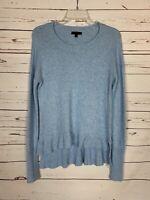 J.Crew Women's S Small Light Blue Crewneck Wool Blend Cute Spring Sweater Top