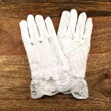 Girls White Lace Gloves - Size 4-6 Years