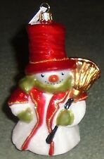 """Glasware Art Studio Snowman glass ornament- Made in Poland - New in Box - 5 1/4"""""""