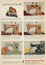 1959 SINGER SEWING MACHINE AD ADVERTISEMENT SLANT-O-MATIC & FEATHERWEIGHT