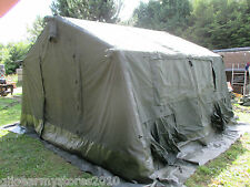 British Army MK2 12x12 Canvas Military Frame Tent Event Shelter Marquee Party