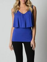 T by Bettina Liano Ladies Fashion Open Shoulder Top sizes 6 8 Colour Blue