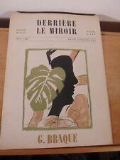 Derrière Le Miroir Revue Art Moderne XX Georges Braque n°4 Maeght Edition