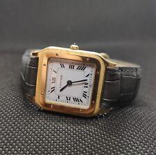 Cartier Santos dumont 15751 hand-wound 1983 vintage watch 18ct gold