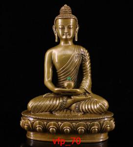 Tibet Tibetan Biography Pure copper Set gemstone Shoufo