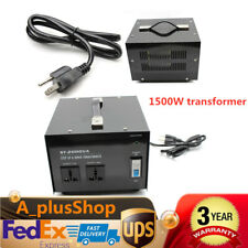 1500 Watt Step Up Down 110V 220V Voltage Converter Transformer 14-15A