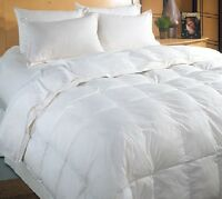 7.5 TOG PURE 100% WHITE DUCK FEATHER DUVET / QUILT -  Available in All Uk Sizes