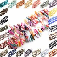 """Natural Long Freeform Stone gemstone Beads For Jewelry Making 15.5"""""""